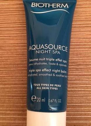 Biotherm крем ночной aquasource night spa