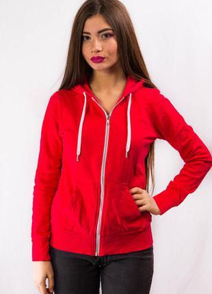 Спортивная кофта олимпийка женская красная с капюшоном divided h&m (36) (s)