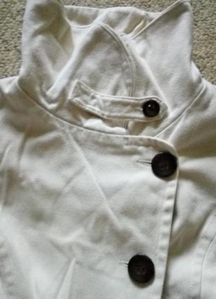 Пальто деми topshop молочного цвета