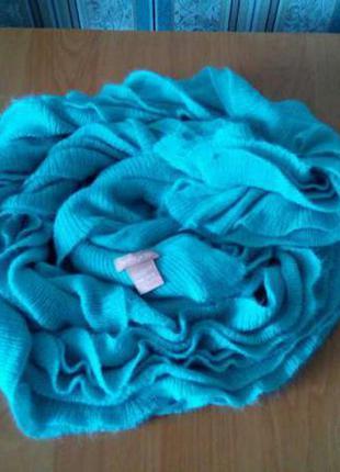 Очень красивый шарфик.тёплый, мягкий шарф. ментолового цвета twentyone