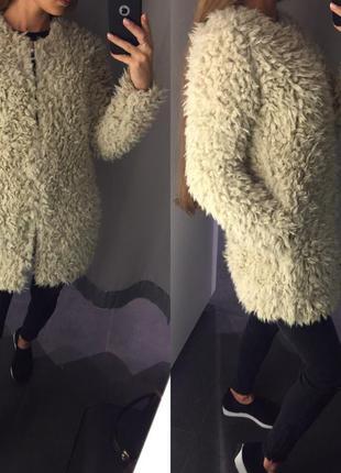 Лохматое пальто деми (хс,м,л)1