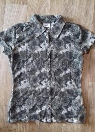 Шифоновая блузочка в ромашку