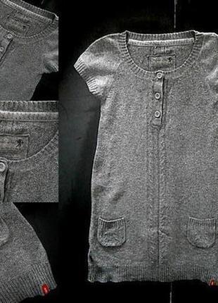 Вязаное платье туника размер 40-44 бренд edc