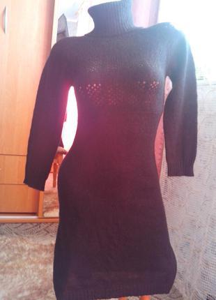 Брендовое вязаное платье