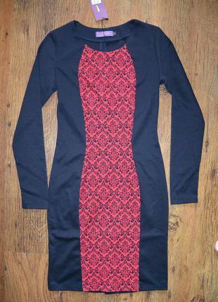 Трикотажное платье glem с принтом 8р.(42)