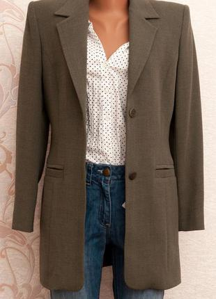 Удлиненный пиджак-бойфренд country casuals - 40%шерсти