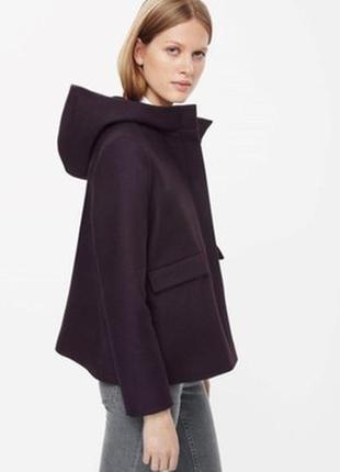 Новое шерстяное пальто с капюшоном cos оригинал!!!