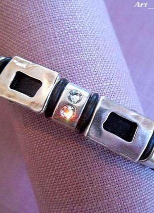 Regaliz кожаный браслет с кристаллами swarovski, ручной работы