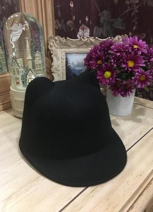 Кепка, котелок, шляпка, шапка с кошачьими ушками в стиле zara