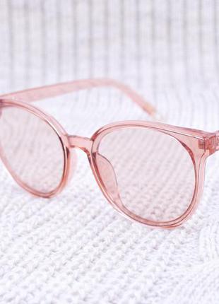 Стильные очки в прозрачной оправе, очки с прозрачной линзой, очки кремовые