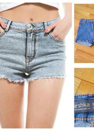 Фирменные джинсовые шорты bershka, размер s-m