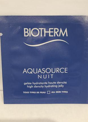 Крем biotherm ночное увлажняющее средство для лица aquasource nuit объём 1 мл