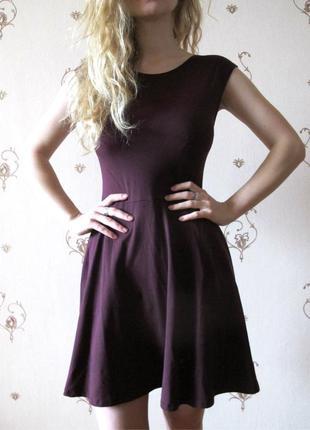 Бордовое платье topshop