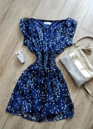 Шифоновое платье в принт