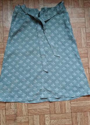 Летняя юбка из натурального льна
