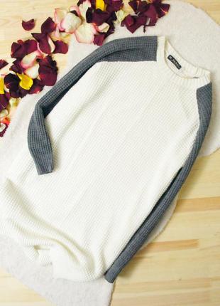 Be beau свитер-платье свободного кроя вафельной вязки!