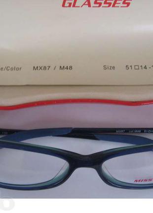 Новые очки miss sixty италия брендовые оправа синего синяя