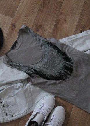 Красивая майка футболка с бахрамой seven sisters рр m-l