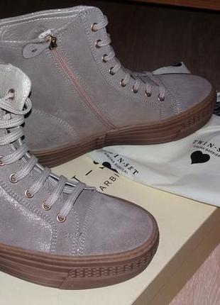 Кожаные ботинки twin set италия оригинал
