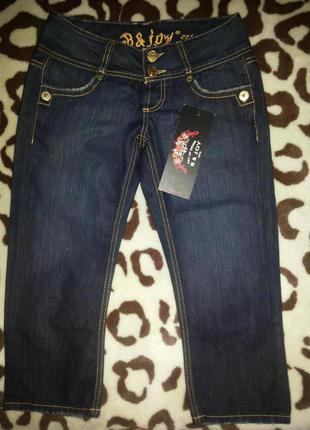 Стильные джинсовые бриджи joy