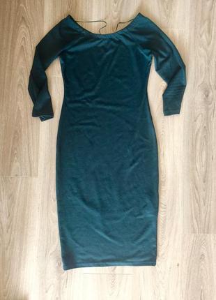 Тёплое длинное платье zara