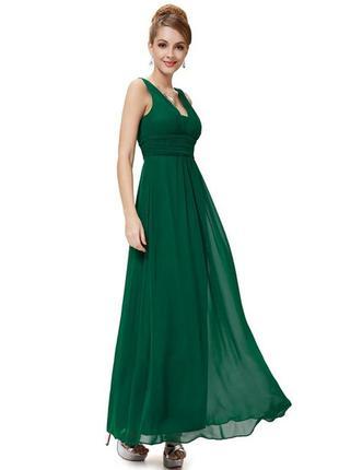 Греческое платье изумрудное