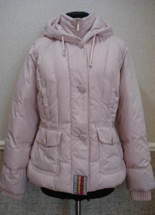 Молодежная стильная курточка с капюшоном пудрового цвета бренд per una