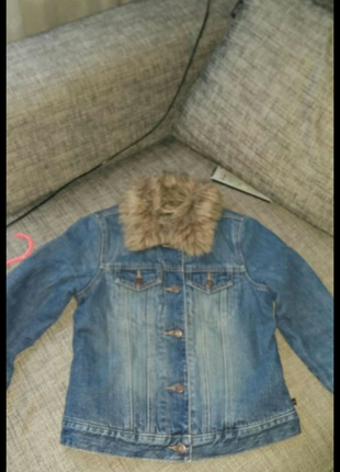 Джинсовая куртка abercrombie&fitch