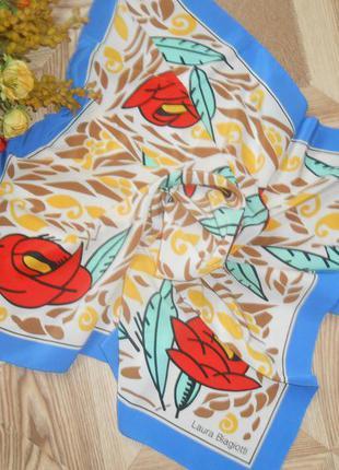 Редкий винтажный платок от laura biagiotti!