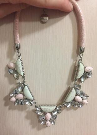 Promod колье с искусственными камнями, ожерелье, бижутерия