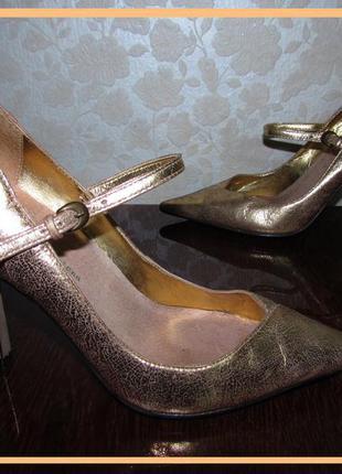 Супер туфли 100% натуральная кожа~river island~ р 37