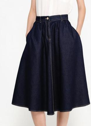 Супер модная джинсовая юбка