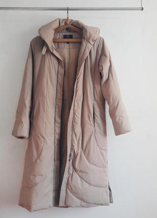 Пуховик пуховое зимние длинное пальто куртка с длинным рукавом outventure