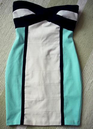 Suiteblanco плаття без брительок/платье бюстье  m