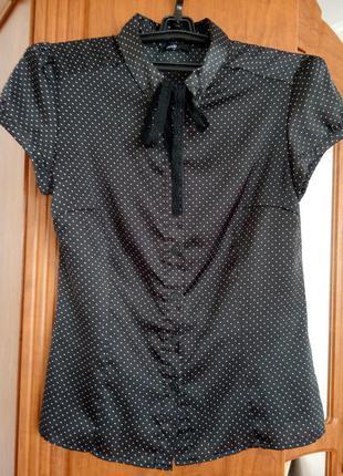 Блуза в горошек от oodji