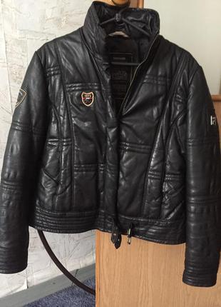 Кожаная утеплённая куртка northland, р. м.