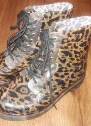 Новые!резиновые ботинки, полусапожки atmosphere