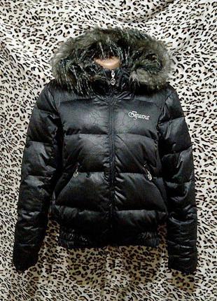 Пуховик куртка с капюшоном большого размера