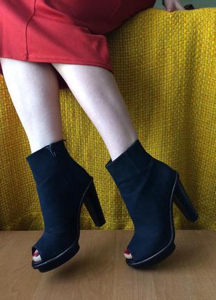 Шикарные ботинки с открытым пальчиком