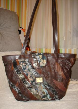 Немецкая кожаная сумка шопер petite fleur