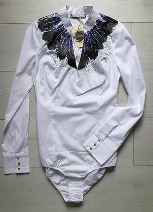Дизайнерская рубашка боди от zacerkovnaya, ручная роспись