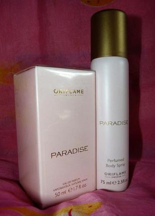 Набор - парфюмерная вода paradise + дезодорант