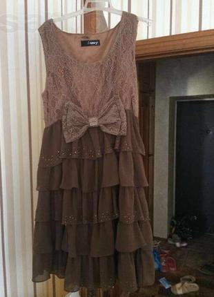 Красивое вечернее нарядное платье