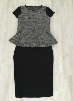 Костюм двойка юбка и блуза для пышной красотки