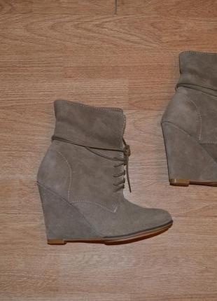 Стильные ботинки zara, нат, замша