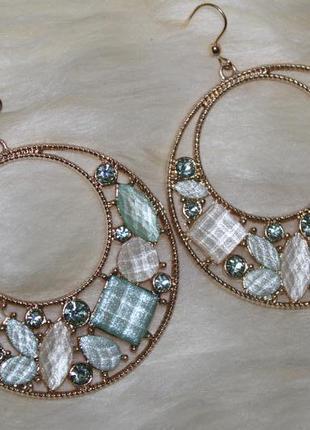 Forever 21 новые шикарные серьги позолота с камнями, ооочень красивые!