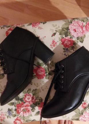 Ботинки сапоги ботильены на каблуке демисезонные весна
