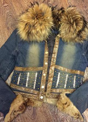Джинсовая куртка balizza