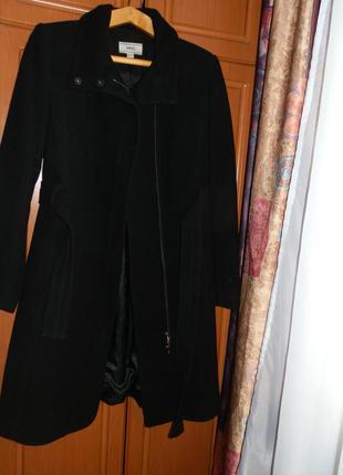 Кашемировое шерстяное классическое прямое пальто размер s-m