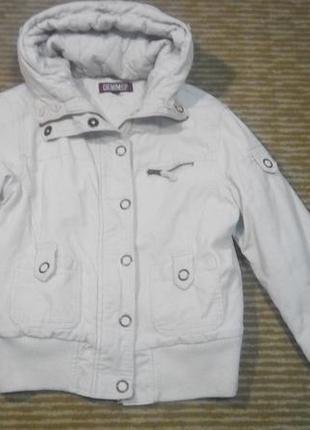 Куртка denim co с капюшоном женская или для подростка размер s м теплая